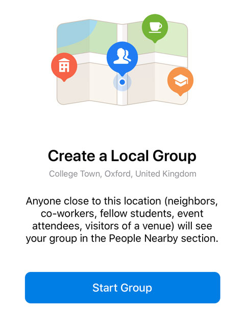 Location-based group